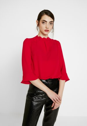 SCALLOP FLUTE SLEEVE - Blouse - red