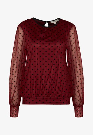 FLOCKED SPOT BLOUSE - Blouse - burgundy