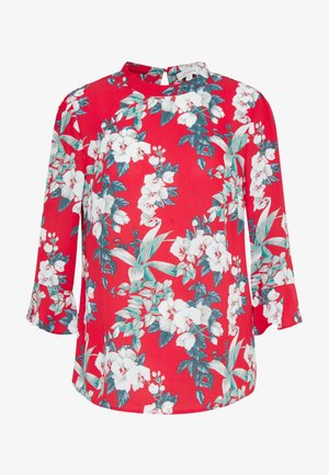 TILLY TROPICAL FLUTE SLEEVE TOP - Blouse - red