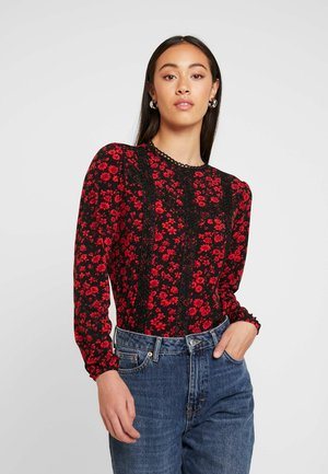 DITSY TRIM BLOUSE - Long sleeved top - multi black