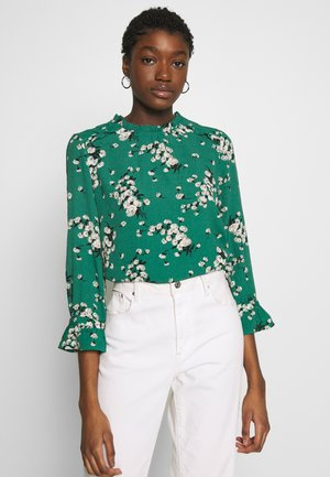BLOSSOM FLORAL FLUTE SLEEVE - Blouse - multi green
