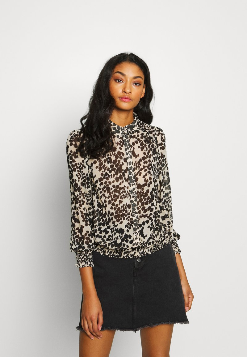 Oasis - SMUDGE FLORAL  - Camisa - black and white