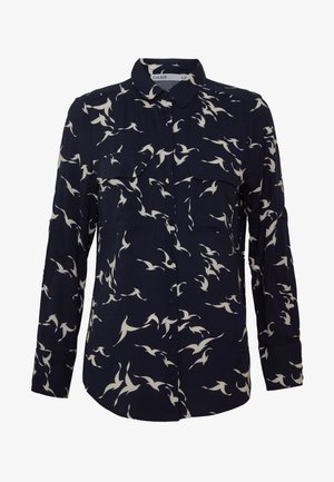SHADOW BIRD SHIRT - Bluse - blue