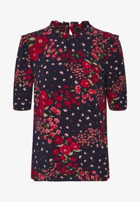 Oasis - FLORAL RUCHED SLEEVE TEE - Blouse - blue - 3