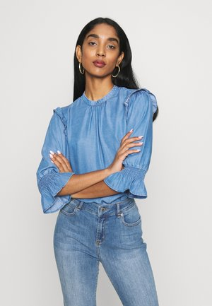 RUFFLE - Blusa - blue denim
