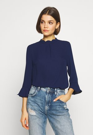 FLUTE SLEEVE TOP - Blouse - navy