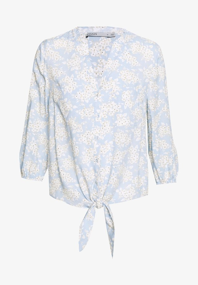 BARCELONA TIE FRONT - Blouse - light blue