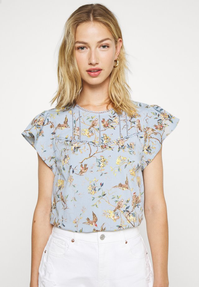 CLAUDINE FLORAL LOOK - Blouse - multi blue