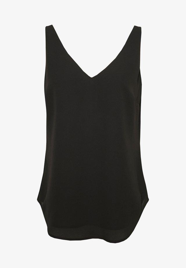 FORMAL VEST - Bluse - black