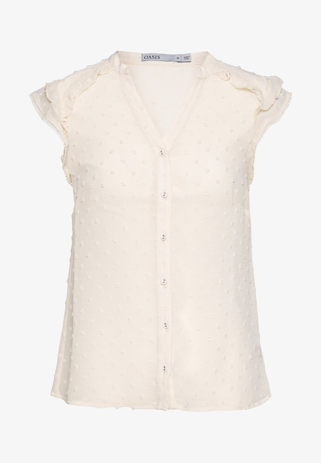 DOBBY BLOUSE - Camicetta - off white