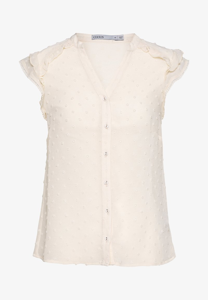 Oasis - DOBBY BLOUSE - Blouse - off white