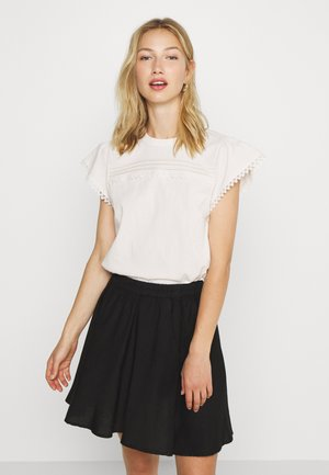 BOBBLE TRIM SHELL  - Blusa - off white