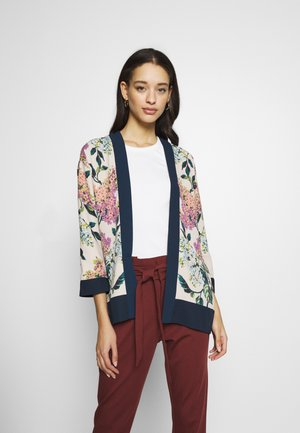 BLOSSOM FLORAL PLACEMENT KIMONO - Giacca leggera - multi-coloured/natural