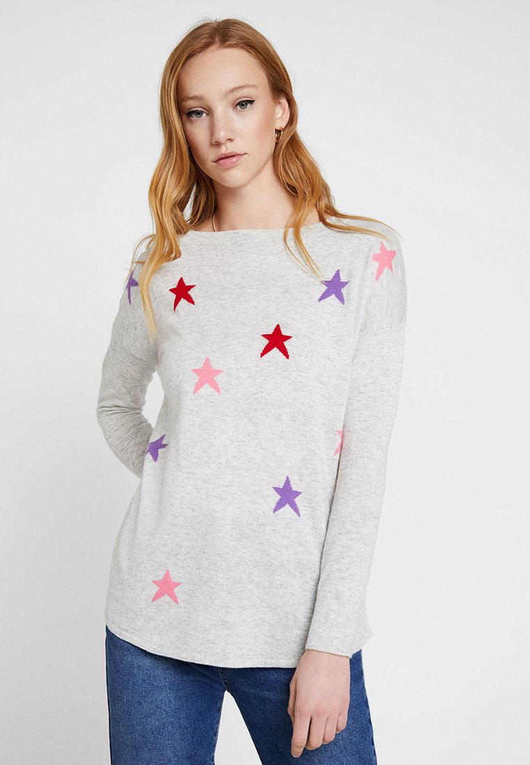 Oasis - NIAMPH STAR JUMPER - Strickpullover - mid grey