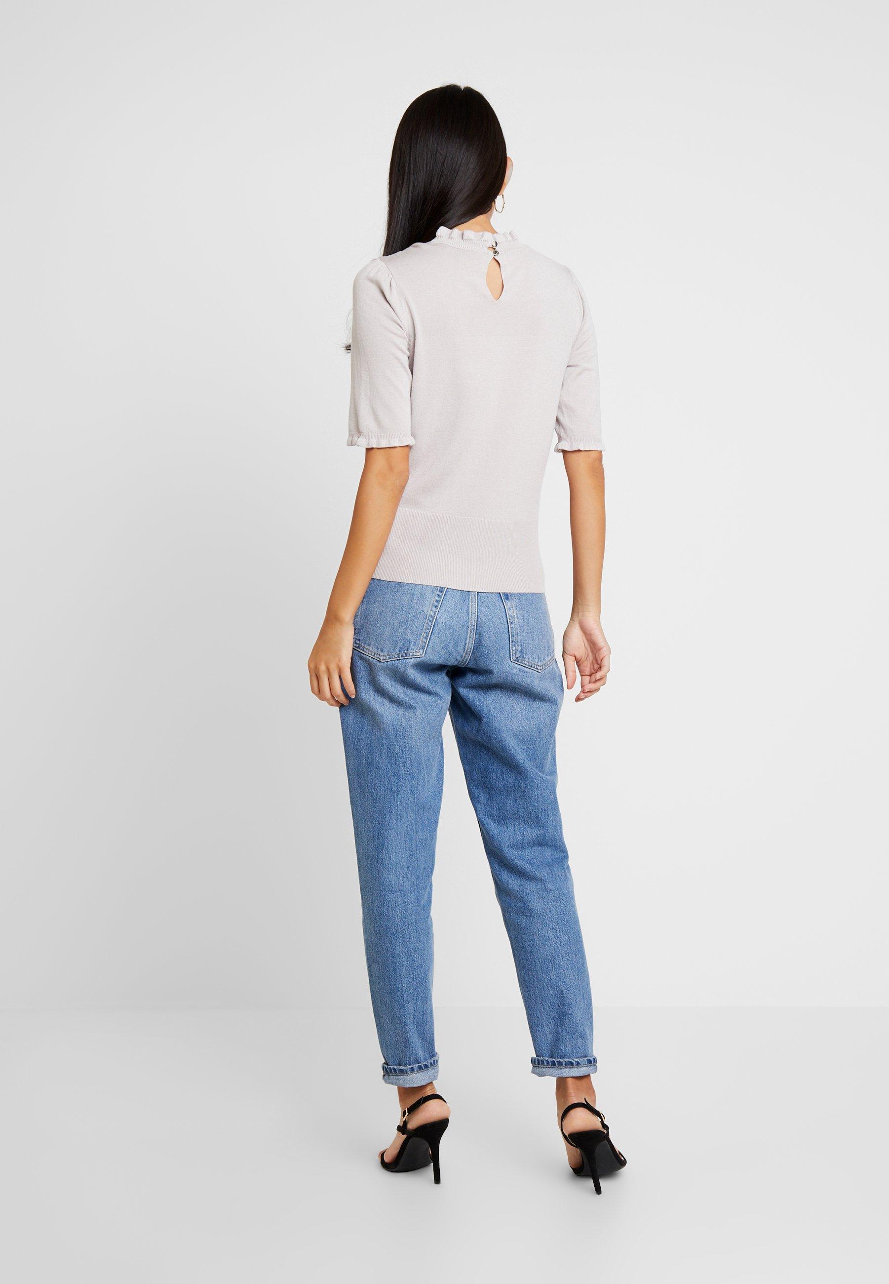 Woven Grey Front Oasis Rose Cayla Shirt JumperPullover Multi Neck xBeWdorC