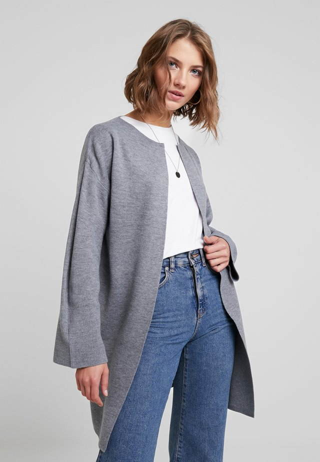 JESSICA CLEAN COATIGAN - Cardigan - mid grey