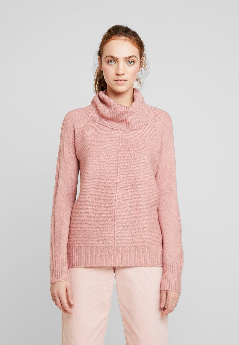 Oasis - LUCY OTTOMAN ROLL NECK JUMPER - Trui - dusky pink