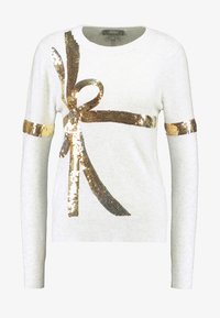 Oasis - BOW SEQUIN XMAS JUMPER - Pullover - pale grey - 3
