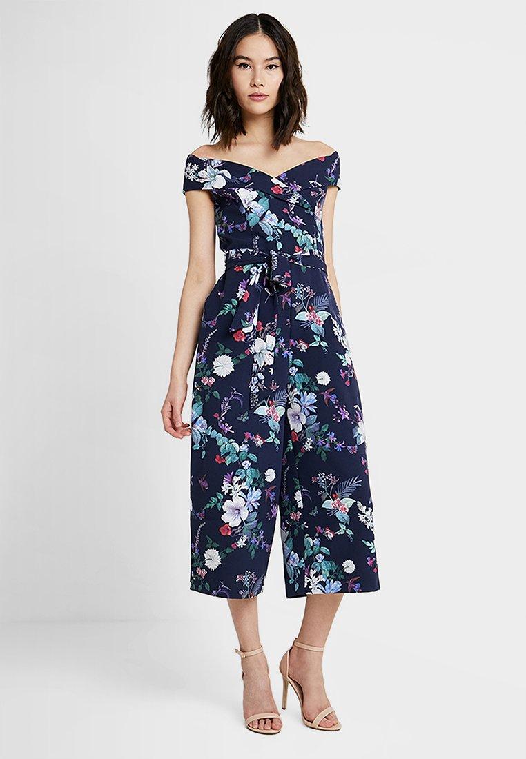 Oasis - BLOOM PRINT BARDOT - Jumpsuit - multi blue