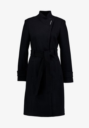 CARINA LONG BELTED COAT - Classic coat - navy