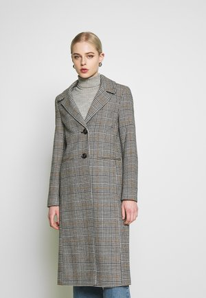 CHECK BUTTON FRONT CAR - Classic coat - multi grey