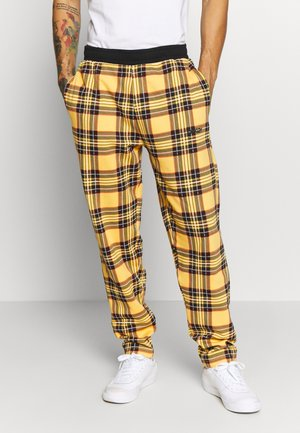 TARTAN PANT - Tracksuit bottoms - yellow