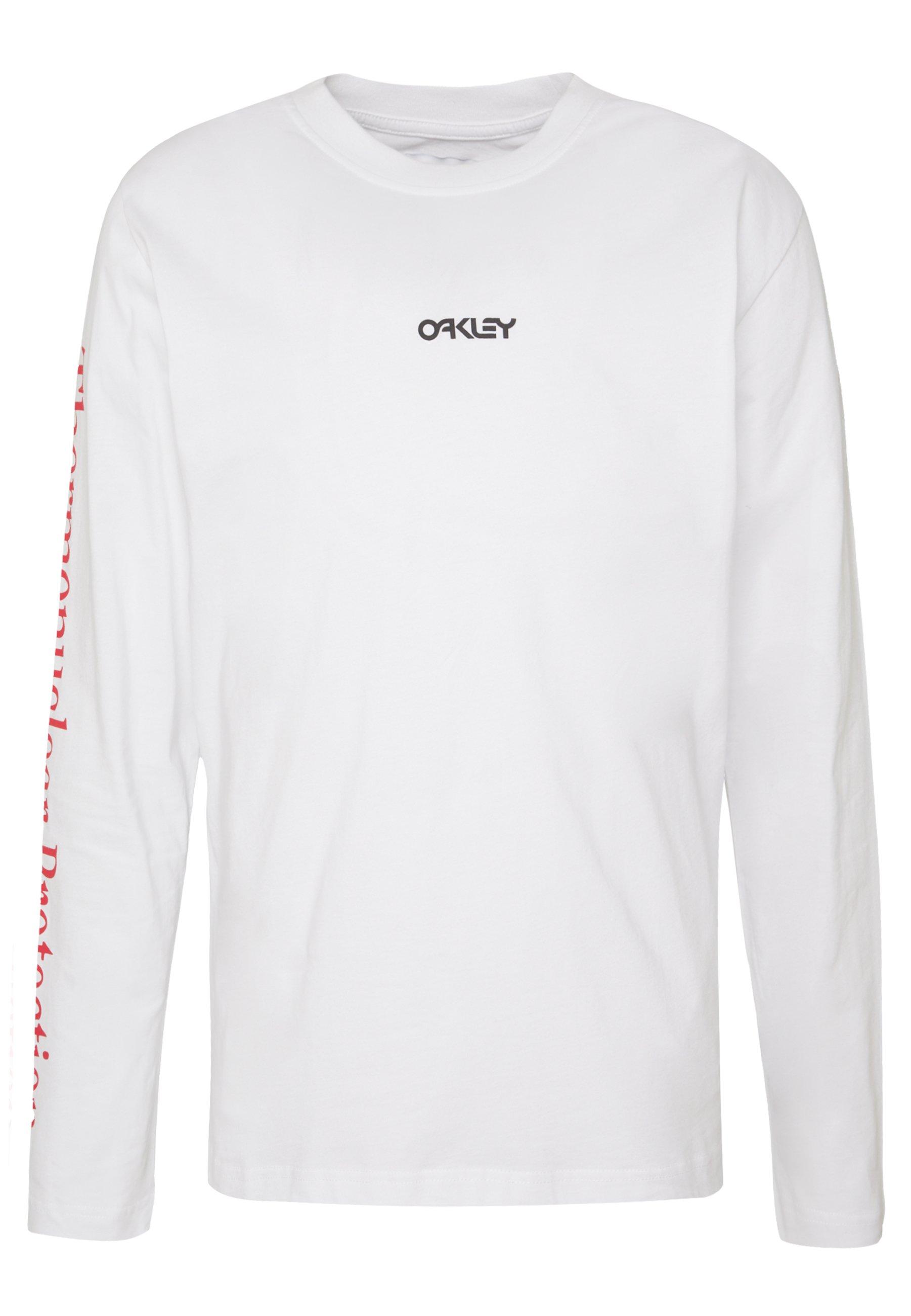 Oakley THERMONUCLEAR TEE - Bluzka z długim rękawem - white
