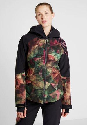 HOURGLASS - Snowboard jacket - geo green/pink