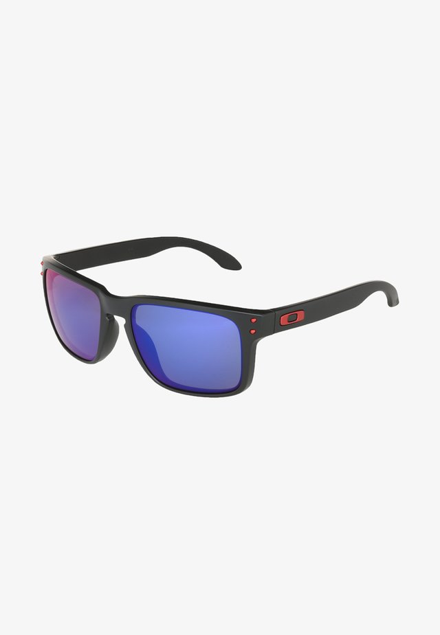 HOLBROOK - Sunglasses - matte black/positive red iridium