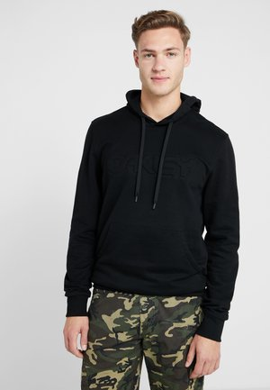 EMBOSSED GRAPHIC HOODIE - Hoodie - blackout