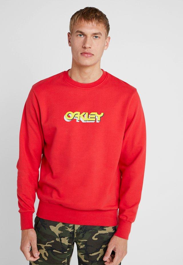 TRIDIMENSIONAL CREWNECK - Sweatshirts - high risk red