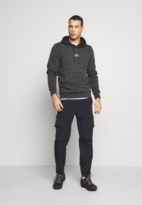 Oakley - HOODIE NEW BARK - Kapuzenpullover - mottled dark grey - 1