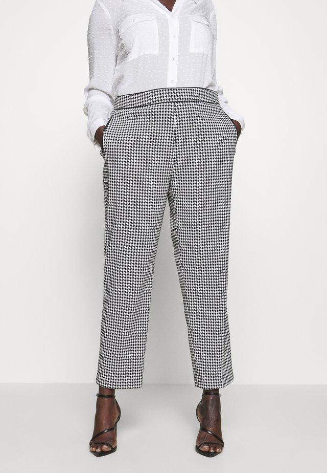 DOGTOOTH CIGARETTE - Spodnie materiałowe - black