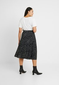 Oasis Curve - SPOT PLEATED SKIRT - A-line skjørt - black - 2