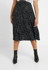 Oasis Curve - SPOT PLEATED SKIRT - A-line skjørt - black - 0