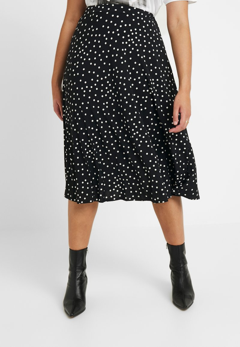 Oasis Curve - SPOT PLEATED SKIRT - A-line skjørt - black