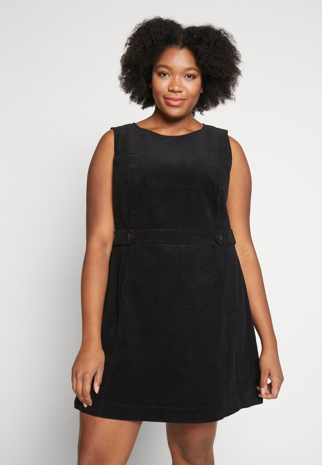 TAB DETAIL SHIFT - Day dress - black