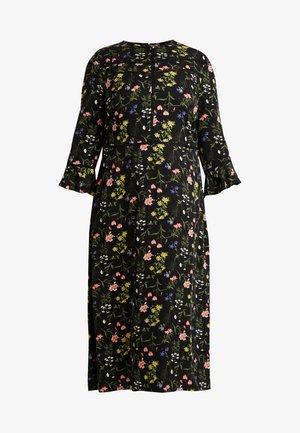 FLOWER CARA TRIM MIDI - Korte jurk - multi black