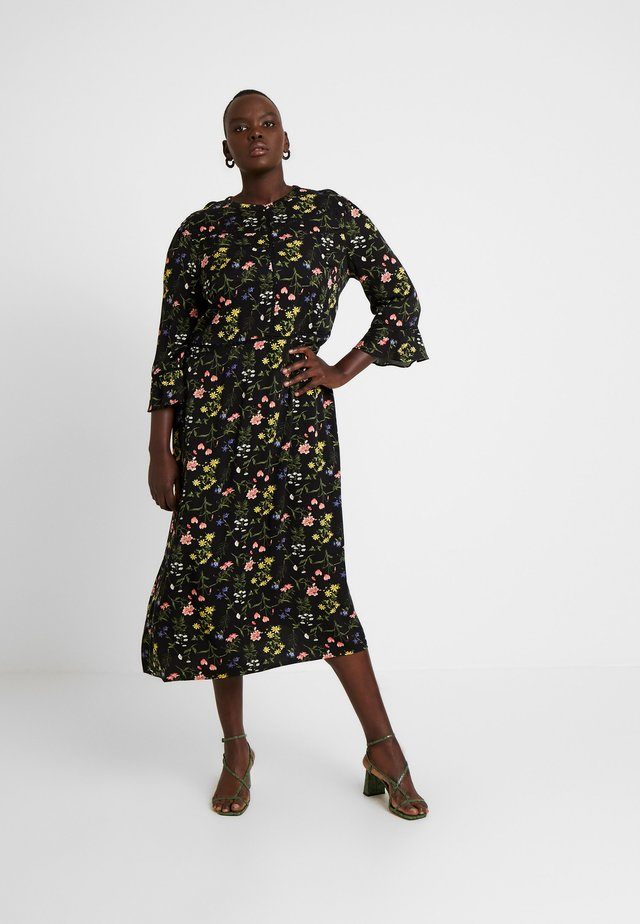 FLOWER CARA TRIM MIDI - Day dress - multi black