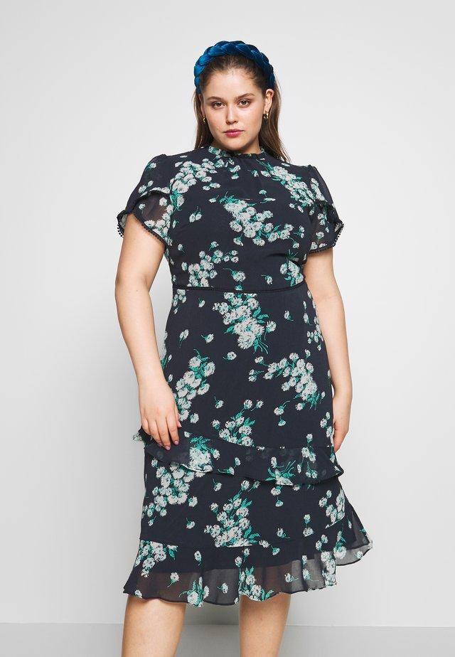 DANDILION PIE CRUST MIDI DRESS - Sukienka letnia - multi blue