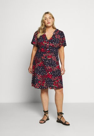FLORAL DITSY RUFFLE TEA DRESS - Kjole - multi blue