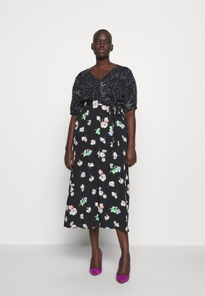 MERCI FLORAL PATCHED MIDI - Day dress - multi black
