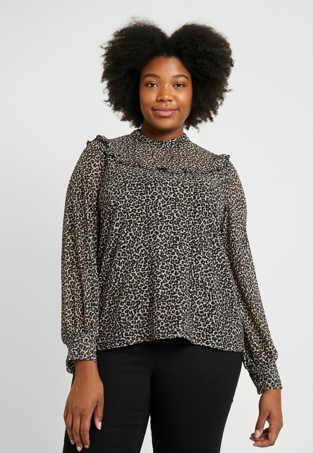 CURVE ANIMAL HIGH NECK - Blouse - multi natural