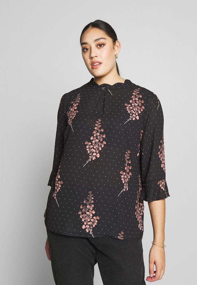 MARMONT SCALLOP NECK FLUTE SLEEVE - Blouse - multi black