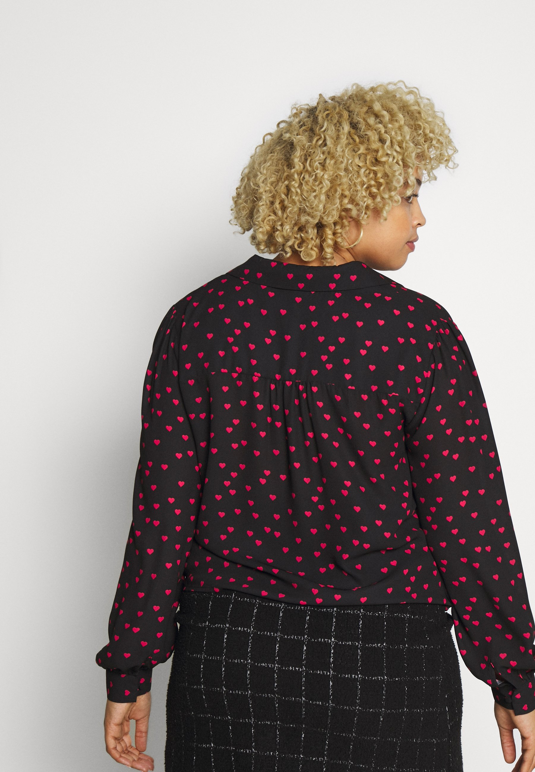 Oasis Curve HEART TIE FRONT SHIRT - Skjorte - black