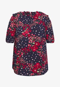 Oasis Curve - FLORAL RUCHED SLEEVE TEE - Blouse - multi/blue - 3