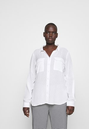 DOBBY - Button-down blouse - offwhite