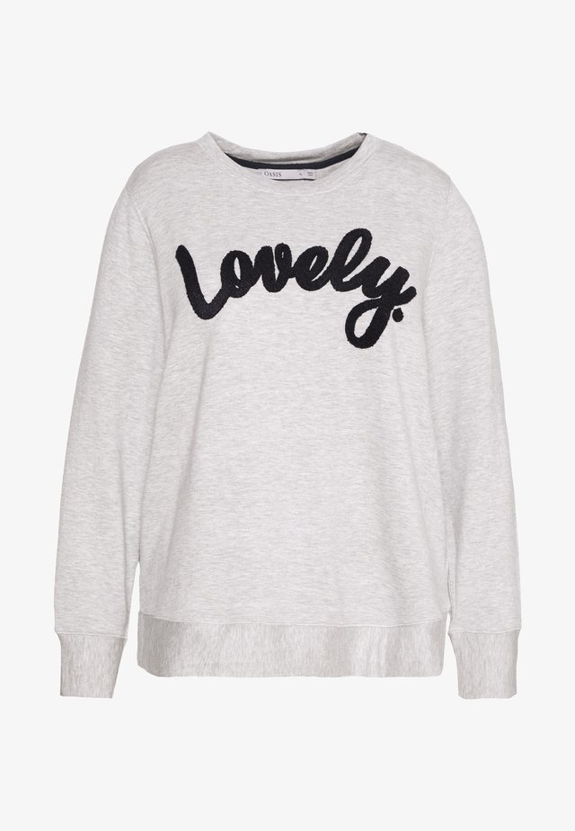LOVELY SLOGAN - Sweatshirt - grey