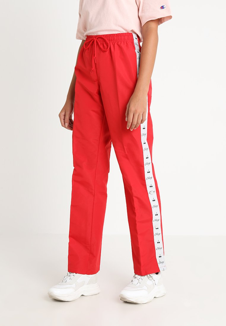 Obey Clothing - CERISE TRACK PANT - Trousers - red