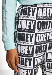 Obey Clothing - SPLASH PANT - Kalhoty - black/white - 4